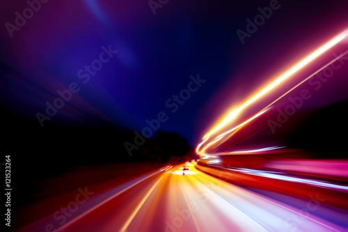 Ταπετσαρία τοιχογραφία moving traffic light trails at night