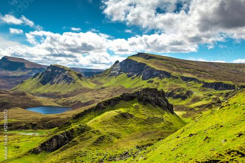 Canvas Print Scottish landscape at Island of Skye, Scotland