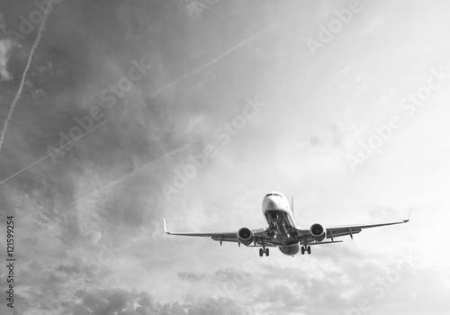 Tableau sur Toile Avion lors de l'atterrissage
