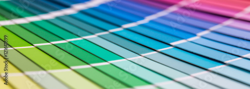 Fotografie, Obraz Open Pantone sample colors catalogue.