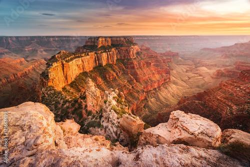 Fotografie, Obraz Sunset landscape at Grand Canyon National Park - North Rim, Arizona, USA