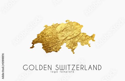 Canvas Print Switzerland map