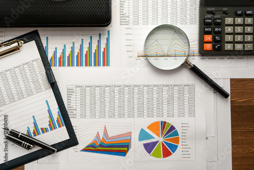 Economical stock market graph Fototapet