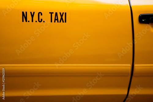 Canvas Print Yellow Cab detail
