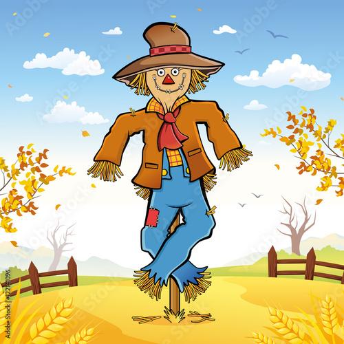 Wallpaper Mural Happy Scarecrow