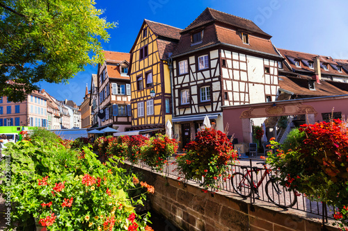 Beautiful romantic towns of France - Colmar in Alsace region