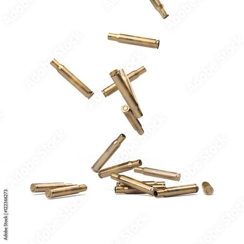 Fotografia Falling Bullet Shells - 3D illustration