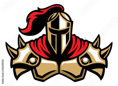 Obraz na plátně knight warrior mascot