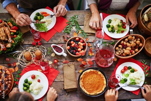 Fotografie, Obraz Thanksgiving feast