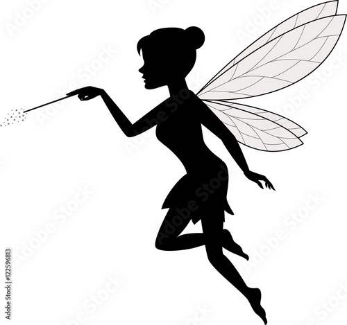 Canvas Print Fairy Waving Her Wand
