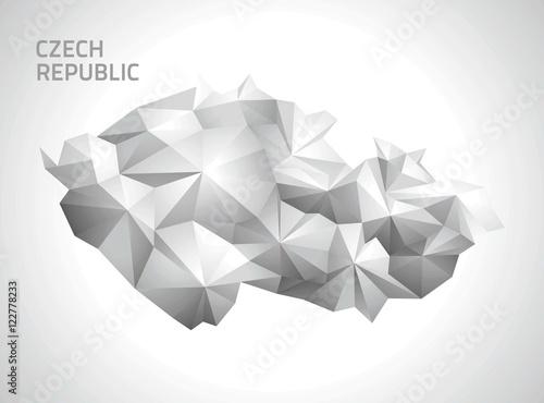 Canvas Print Czech Republic polygonal map