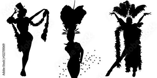 Vector cabaret dancers Fototapet