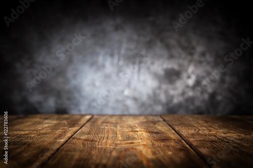 Wooden table background Fototapeta