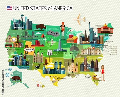 Photo USA Travel Map.