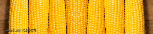 Canvas Print corn on the wooden background
