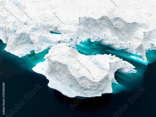 glaciers are at Greenland icefjord Fototapeta