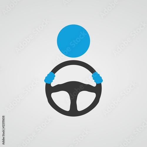 Fotomural Steering wheel icon. Vector.