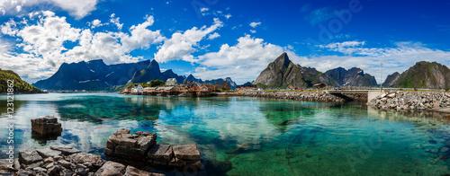Fotografia Panorama Lofoten archipelago islands