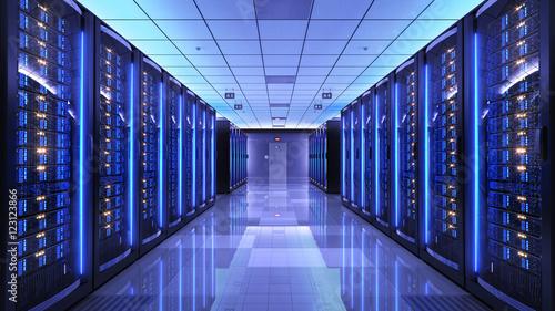 Fotografía Server racks in server room data center