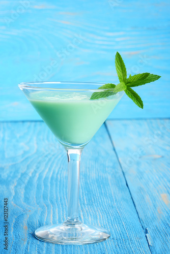 Stampa su Tela grasshopper cocktail with mint