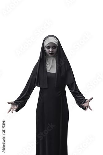 Canvas Print Scary Devil Nun