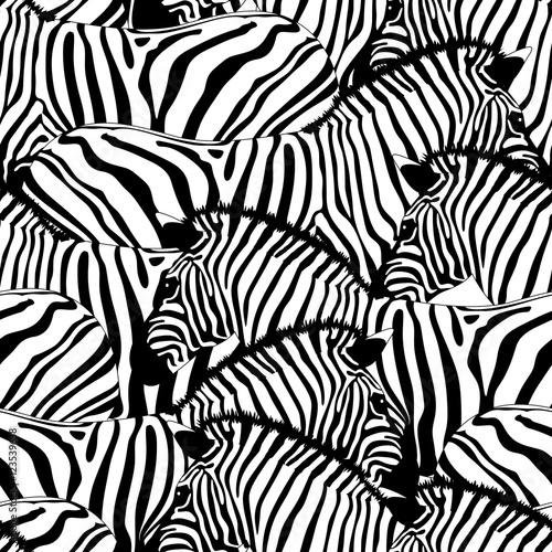 Plakat z wzorem w zebrę