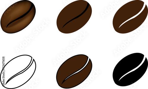 Obraz na płótnie coffee bean,  Vector illustration