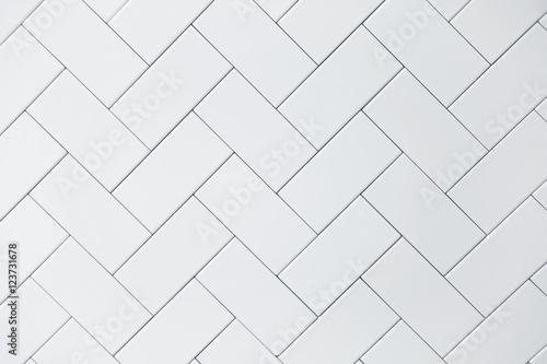 Fotografie, Obraz white ceramic brick tile