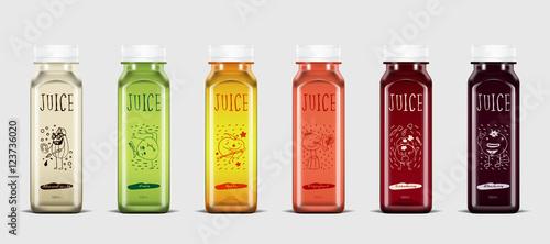 Photo Plastic juice bottle brand concept