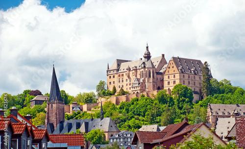Stampa su Tela Das Landgrafenschloss von Marburg an der Lahn in Hessen