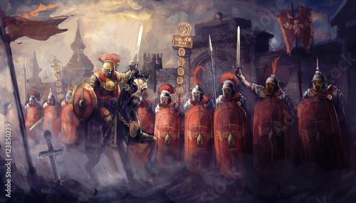 Slika na platnu Roman soldiers and their general