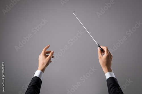 Fotografia Musician directing concert