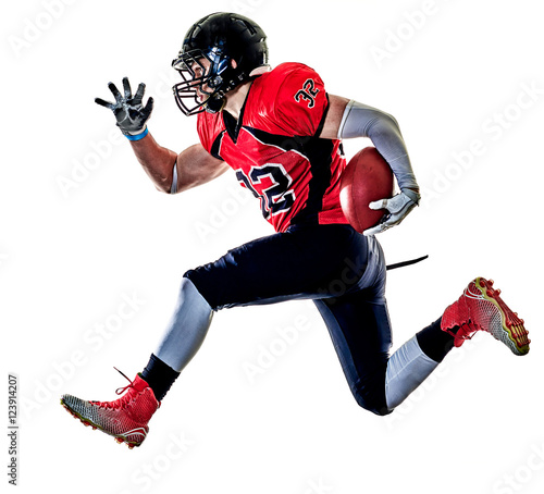 Canvas Print american football player man isolated