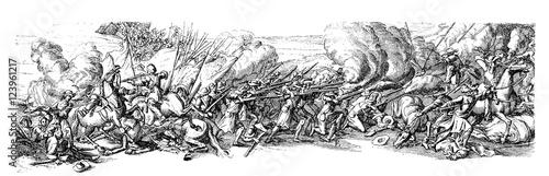 Fotografiet XVII century, Thirty Years War  battle