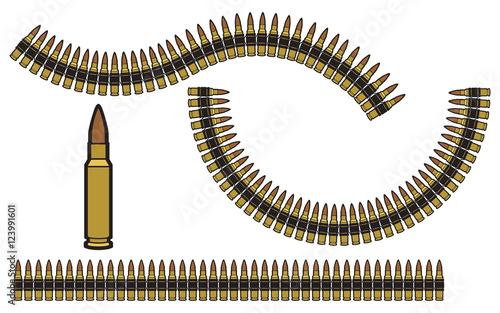 Vászonkép bullet belt