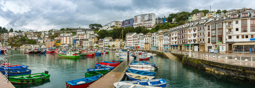 Panoramic of Luarca Old Port, Asturias, Spain. Luarca it is a fishing and pleasure port of the municipality of Valdes. Fishery, tourism and agriculture have dominated the region.