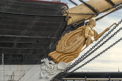 figurehead of the vintage sailing ship Jutland Fototapet