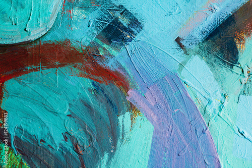 Colored paint strokes. Abstract art background. Detail of a work of art. Contemporary Art. Colorful texture. thick paint surface