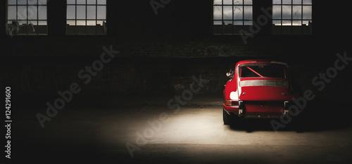 Canvas Print 911 Oldtimer roter Sportwagen, Rennauto siebziger Jahre