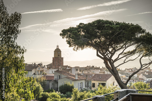 Fototapeta Saint-Tropez the clock tower