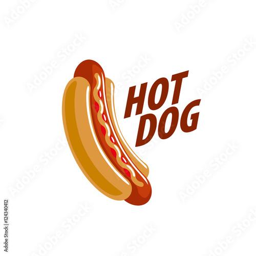Canvas Print vector logo hot dog