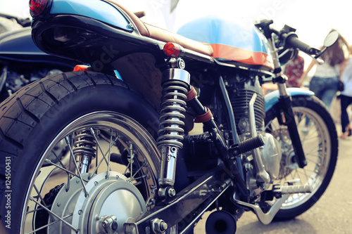 Canvas Print Classic motorcycle with elements of chrome
