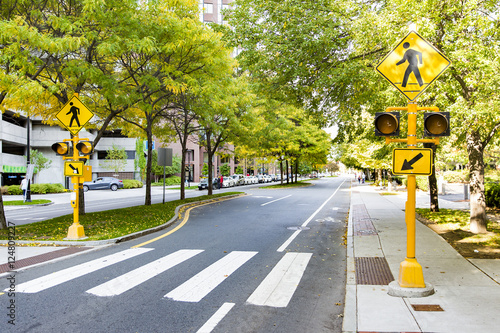 Fotografia, Obraz pedestrian crossing in the city