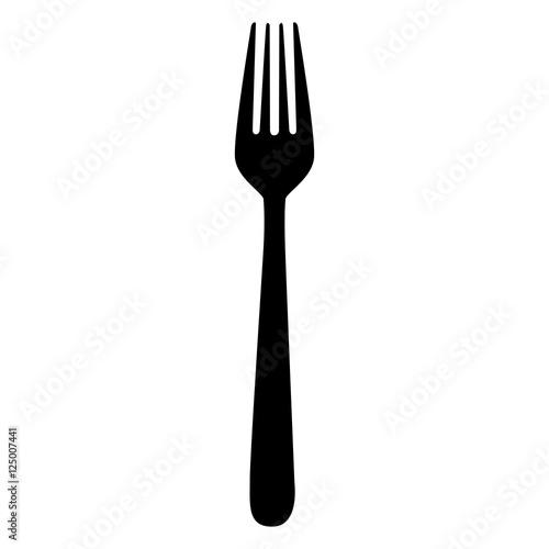 Obraz na plátně fork cutlery icon image vector illustration design
