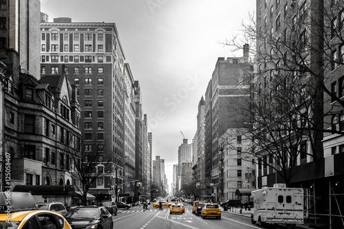 Slika na platnu Yellow cabs at Upper West Site of Manhattan, New York City