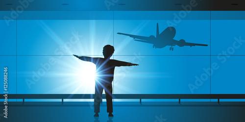 Slika na platnu Enfant - Avion - Rêve - Pilote