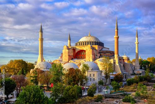 Valokuvatapetti Hagia Sophia domes and minarets, Istanbul, Turkey