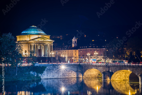 Fototapeta Ponte Vittorio Torino
