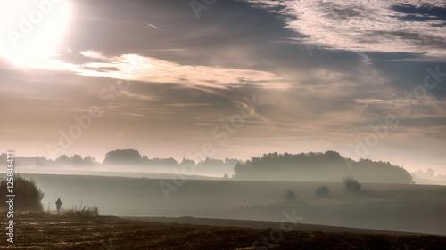 Fotografia Waterloo Battlefield in autumn