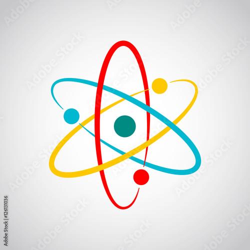 Fotografia Colored atom icon. Vector illustration.
